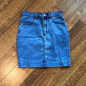 NEVER WORN Missguided denim mini skirt
